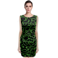 Alien Invasion  Classic Sleeveless Midi Dress