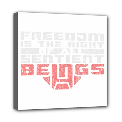 Freedom Is The Right Grunge Mini Canvas 8  X 8