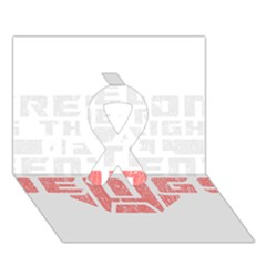 Freedom is the Right GRUNGE Ribbon 3D Greeting Card (7x5)