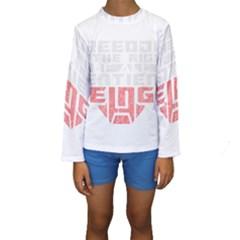 Freedom Is The Right Grunge Kid s Long Sleeve Swimwear
