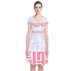 Freedom Is The Right Grunge Short Sleeve Front Wrap Dress