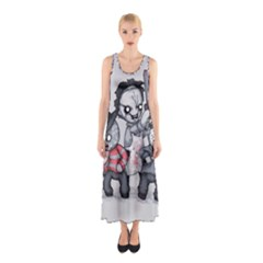 Horror Trifecta Plushie  Sleeveless Maxi Dress