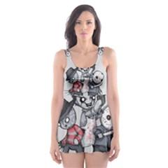 Horror Trifecta Plushie  Skater Dress Swimsuit