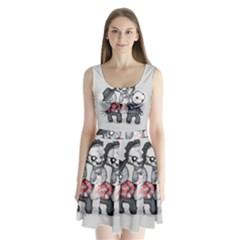 Horror Trifecta Plushie  Split Back Mini Dress