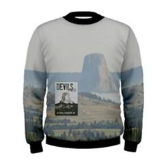 Devils Tower Stamp and Phto Men s Sweatshirt