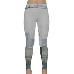 Devils Tower Stamp and Phto Yoga Leggings