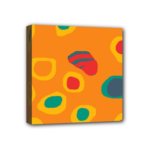 Orange abstraction Mini Canvas 4  x 4