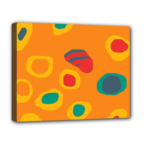 Orange abstraction Deluxe Canvas 20  x 16