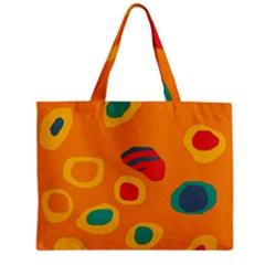 Orange abstraction Zipper Mini Tote Bag