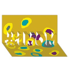 Yellow abstraction #1 MOM 3D Greeting Cards (8x4)