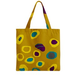 Yellow abstraction Grocery Tote Bag
