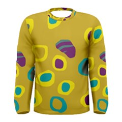Yellow abstraction Men s Long Sleeve Tee