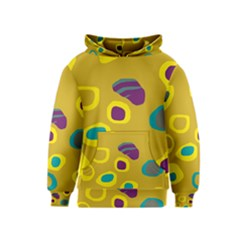 Yellow abstraction Kids  Pullover Hoodie