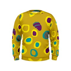 Yellow Abstraction Kids  Sweatshirt