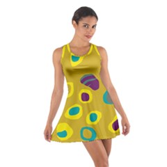 Yellow abstraction Cotton Racerback Dress