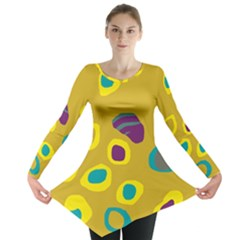 Yellow Abstraction Long Sleeve Tunic