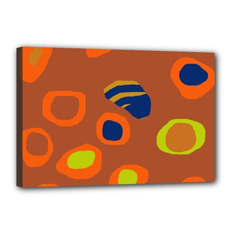 Orange abstraction Canvas 18  x 12