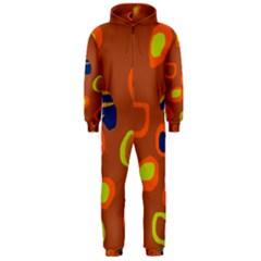 Orange abstraction Hooded Jumpsuit (Men)