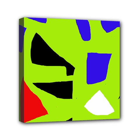 Green abstraction Mini Canvas 6  x 6