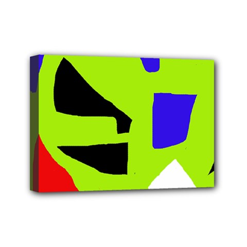 Green abstraction Mini Canvas 7  x 5