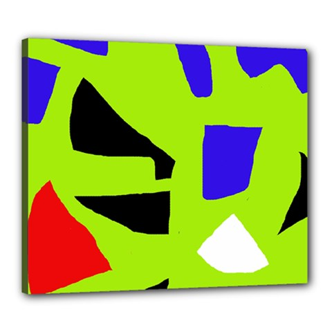 Green abstraction Canvas 24  x 20