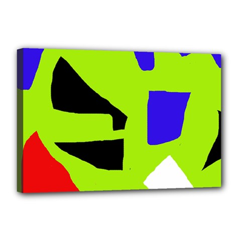 Green abstraction Canvas 18  x 12