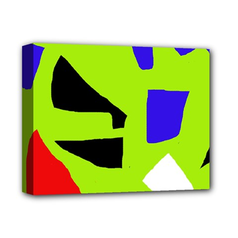 Green abstraction Deluxe Canvas 14  x 11