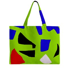 Green abstraction Mini Tote Bag