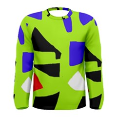 Green abstraction Men s Long Sleeve Tee