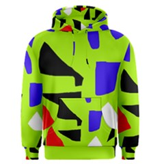 Green abstraction Men s Pullover Hoodie