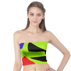 Green abstraction Tube Top