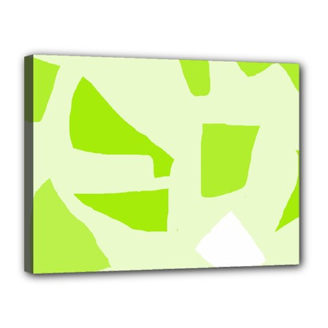 Green abstract design Canvas 16  x 12