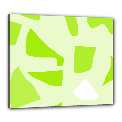 Green abstract design Canvas 24  x 20