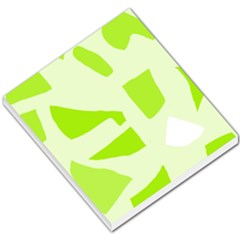 Green abstract design Small Memo Pads