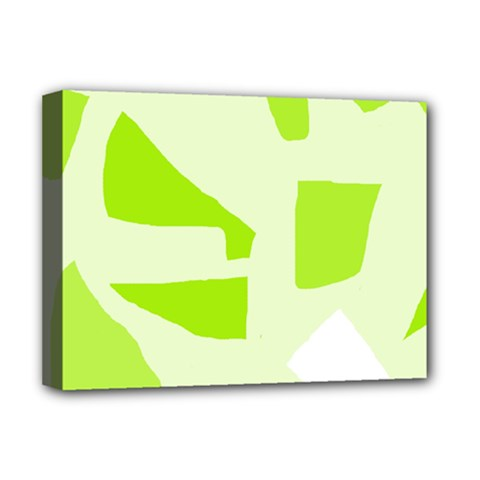 Green abstract design Deluxe Canvas 16  x 12