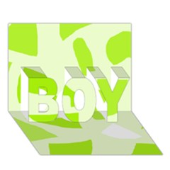 Green abstract design BOY 3D Greeting Card (7x5)
