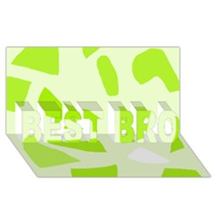 Green Abstract Design Best Bro 3d Greeting Card (8x4)