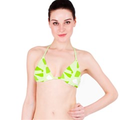 Green abstract design Bikini Top