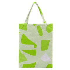 Green abstract design Classic Tote Bag
