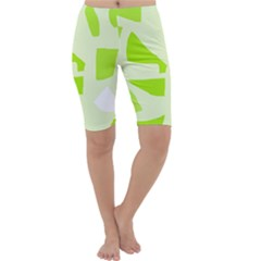 Green abstract design Cropped Leggings