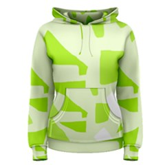 Green abstract design Women s Pullover Hoodie