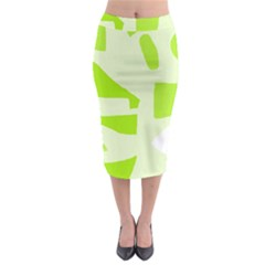 Green abstract design Midi Pencil Skirt