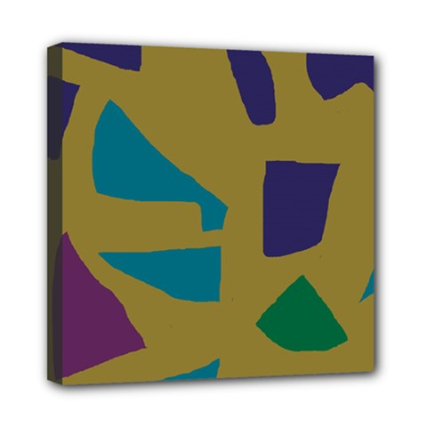 Colorful Abstraction Mini Canvas 8  X 8