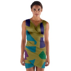 Colorful abstraction Wrap Front Bodycon Dress