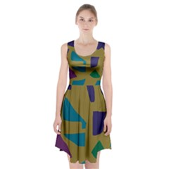 Colorful Abstraction Racerback Midi Dress