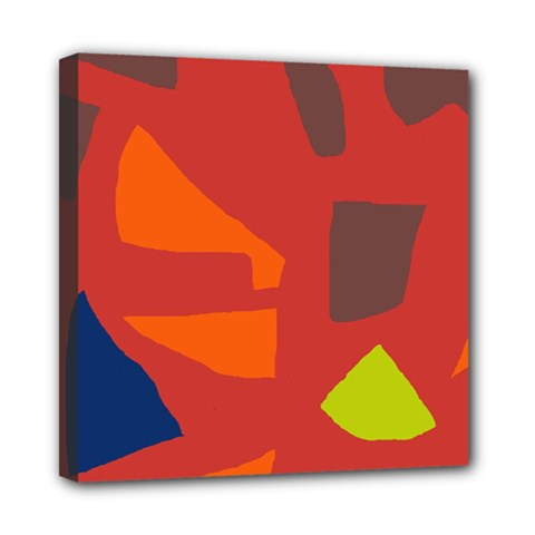 Red abstraction Mini Canvas 8  x 8
