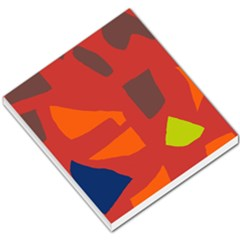 Red abstraction Small Memo Pads