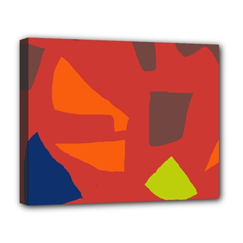 Red abstraction Deluxe Canvas 20  x 16