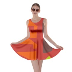 Red abstraction Skater Dress
