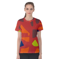 Red abstraction Women s Cotton Tee